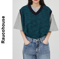 Raucohouse(ラウコハウス)★Two-Tone Color Mixed Knit Vest