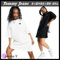 【Tommy Jeans】トミージーンズ クルーネック Tシャツワンピース