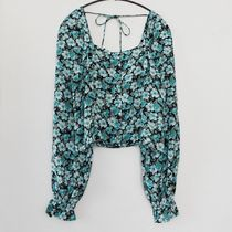 """""""& Other Stories"""" Ruffled Cuff Button Up Top Floral"""
