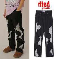 ★YOUTHBATH★送料込み★韓国★MILK COW CUTTING DENIM PANTS