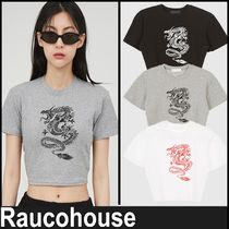 【RAUCOHOUSE】『日本未入荷』 Dragon Printed Cropped Top