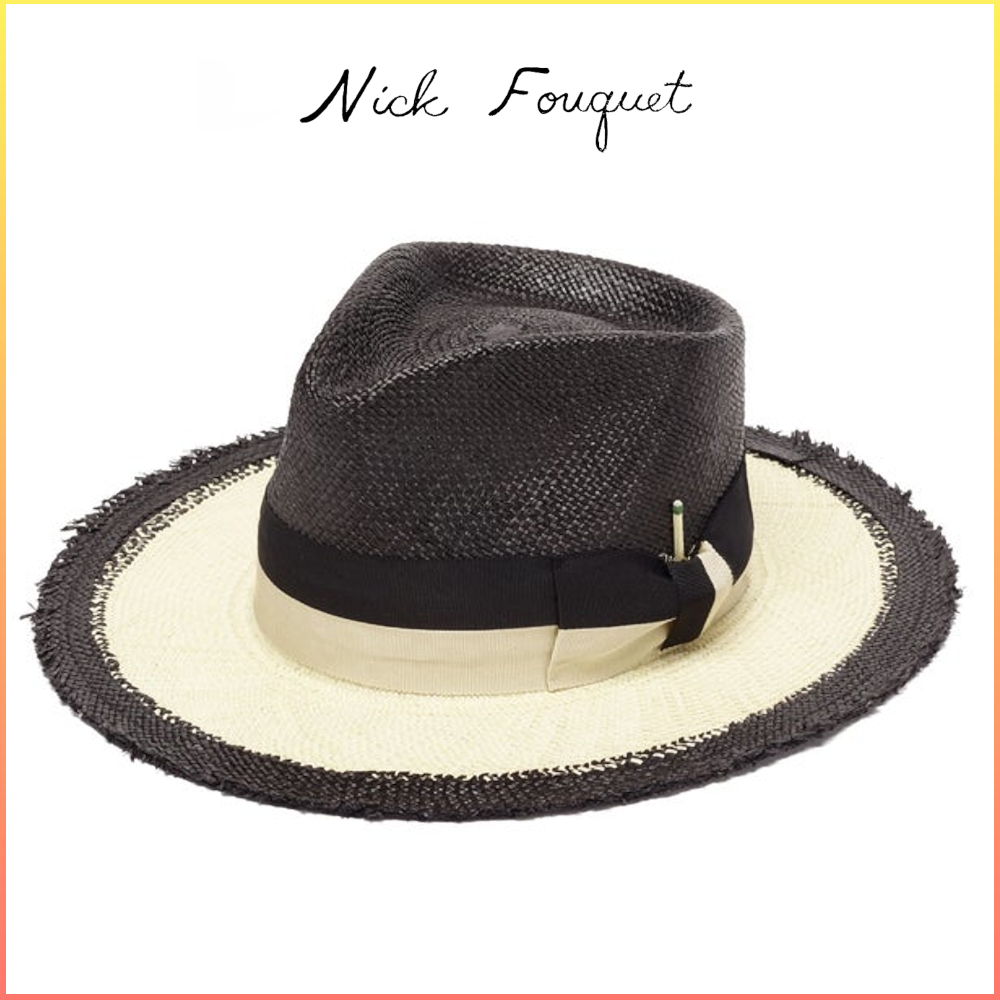 NICK FOUQUET 1/2 ムーン ストローパナマハット 関税送料込 (Nick Fouquet/ハット) 67946031