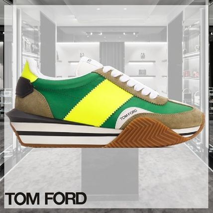 21SS TOM FORD 新作 メンズ エコスニーカー 緑/黄色 James