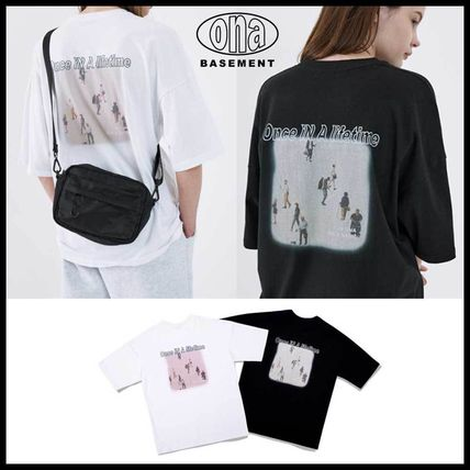 ●ONA● BACK PEOPLE PRINTING T-SHIRTS 2色 半袖 人気 韓国発