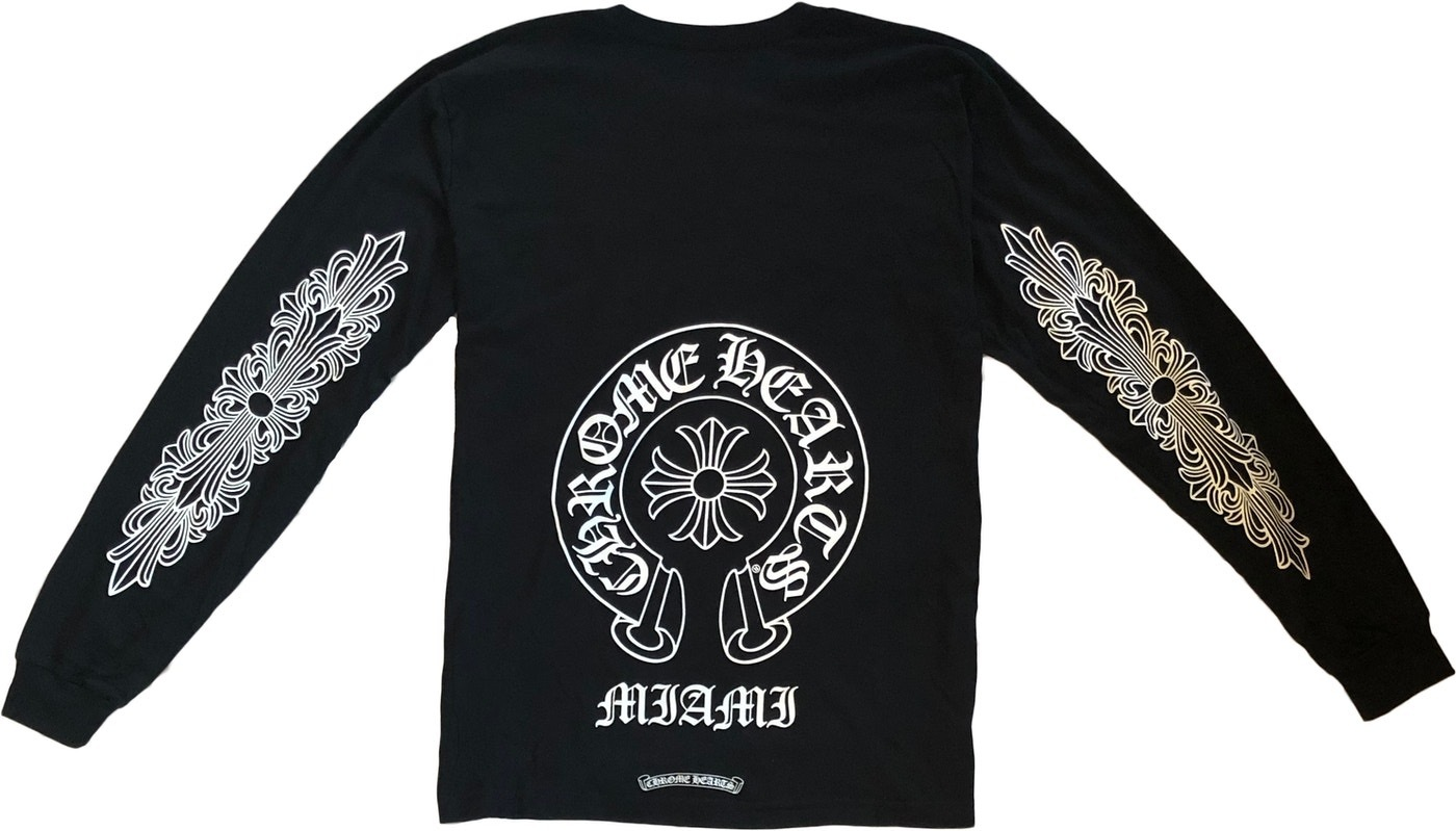 21 SS Chrome Hearts Miami Exclusive L/S T-Shirt Black (CHROME HEARTS/Tシャツ・カットソー) 67961945