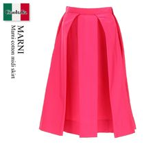 Marni cotton midi skirt