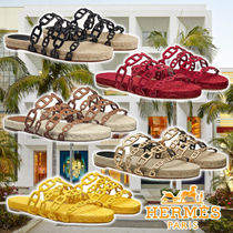 HERMES 21SS Ancone espadrilles 5colors Leather サンダル