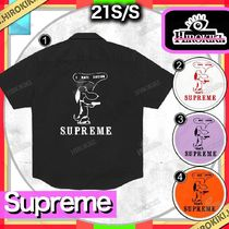21SS /Supreme Dog S/S Work Shirt ドッグ ワーク シャツ