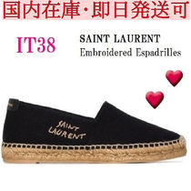 関税込◆Saint Laurent   Embroidered Espadrilles