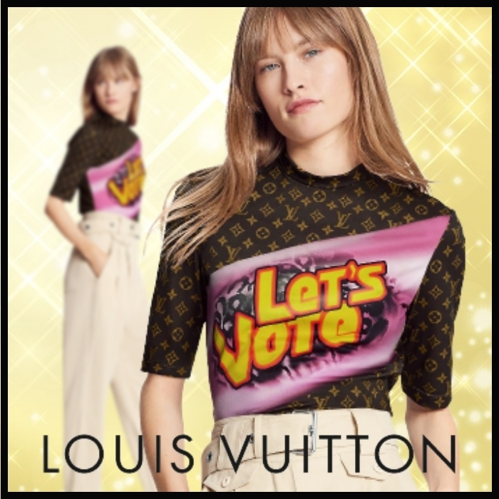 21SS★LV★グラフィック ステートメント スポーティトップ (Louis Vuitton/Tシャツ・カットソー) GRAPHIC STATEMENT SPORTY TOP