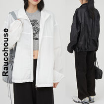 Raucohouse(ラウコハウス)★ Glossy Wrinkle Zip-Up Jacket