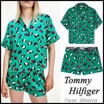【Tommy Hilfiger】(関税込) ロゴ パジャマ 上下セット green