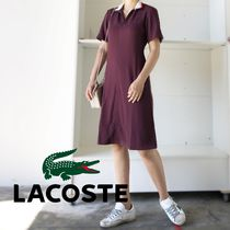 ★LACOSTE★FLARED ZIP UP POLO DRESS EF4481-51