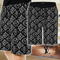 【LV】21FW NBA Flower Quilted black ショートパンツ