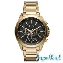 Chronograph Drexler Gold-Tone Stainless Steel Bracelet Watch