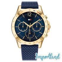 Chronograph Navy Silicone Strap Watch 38mm