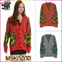 【MSKN2ND】HAWAIIAN PATTERN JACQUARD CARDIGAN 全2色