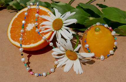 VINTAGE HOLLYWOOD ネックレス・ペンダント 【VINTAGE HOLLYWOOD】Pearl n Beads+Daisy Necklace〜2連セット(7)