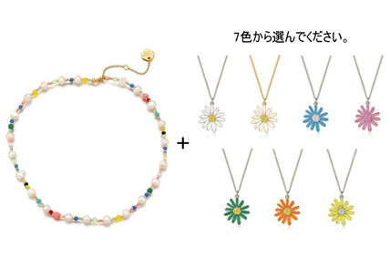 VINTAGE HOLLYWOOD ネックレス・ペンダント 【VINTAGE HOLLYWOOD】Pearl n Beads+Daisy Necklace〜2連セット(2)