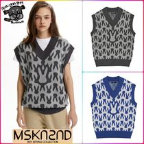 【MSKN2ND】MOON BUNNY MONOGRAM VEST  全2色