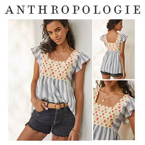 【Anthropology アンソロポロジー】Embroidered Tunic Blouse