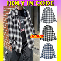 HOLY IN CODE(ホーリーインコード) シャツ ◇HOLY IN CODE◇ see-through チェックシャツ (3色) unisex