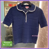 【kate spade】♤ short-sleeve knit polo sweater ♤