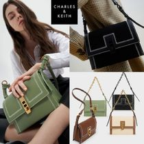 ★Charles & Keith★Turnlock chain strap replacement bag★4色