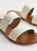 """""""& Other Stories""""新作☆Duo Strap Leather Sandals(white)"""