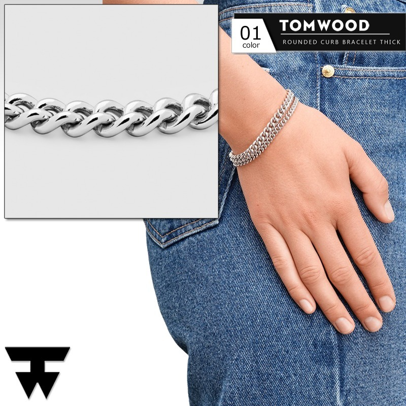 Tom WoodブレスレットRounded Curb Thick (Tom Wood/ブレスレット) 68095423