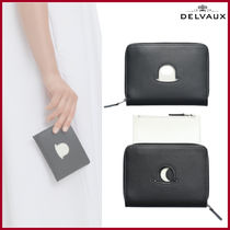 DELVAUX(デルボー) 折りたたみ財布 DELVAUX☆ボーラーハット トロンプ・ルイユコンパクトウォレット