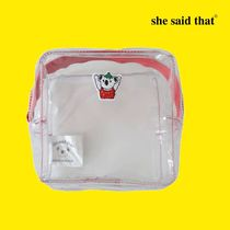 she said that(シーセッドザット) メイクポーチ 韓国【she said that】PVC クリアポーチstrawberry koala pouch