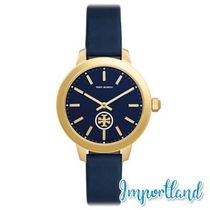 Collins Tory Navy Leather Strap Watch 38mm