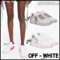 OFF-WHITE ◆ Vulcanized canvas sneakers キャンバススニーカー