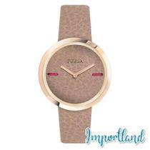 My Piper Brown Dial Calfskin Leather Watch