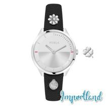 Pin Silver Dial Calfskin Leather Watch