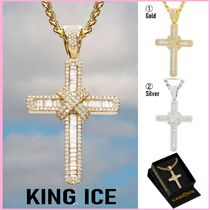 King Ice(キングアイス) ネックレス・ペンダント 送料関税込【King Ice】WRAPPED CROSS NECKLACE☆(2色) 国内発♪