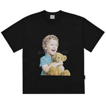 【acme de la vie】BABY FACE T-SHIRT - BLACK BROWN BEAR