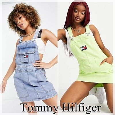 【Tommy Hilfiger】Tommy Jeans ロゴ デニムワンピース
