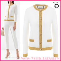 GUCCI★素敵!Off White GG Buttons Classic CARDIGAN