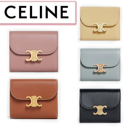 CELINE☆SMALL TRIOMPHE WALLET IN SHINY SMOOTH LAMBSKIN☆送込