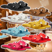 """HERMES 17SS Sandals """"Oran"""" 7colors Leather サンダル"""