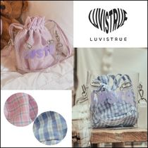 LUV IS TRUE★韓国★日本未入荷★人気 LU CHECK POUCH ポーチ