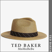 TED BAKER(テッドベーカー) ストローハット 【国内発送・関税込】TED BAKER ハーケインストローパナマハット