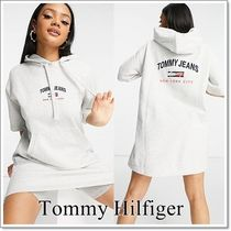 【Tommy Jeans】 半袖パーカーワンピース