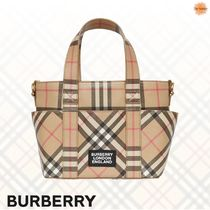 ◆Burberry◆ロゴ×ヴィンテージチェックトートバッグ 大人もOK