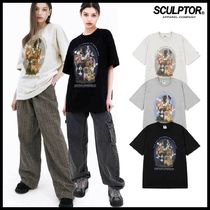 SCULPTOR(スカルプター) Tシャツ・カットソー ●SCULPTOR● PUPPY FRIENDS T-SHIRTS 3色 Tシャッツ 韓国発