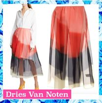 Dries Van Noten Sakura Transp midi skirt ○関税・送料無料○