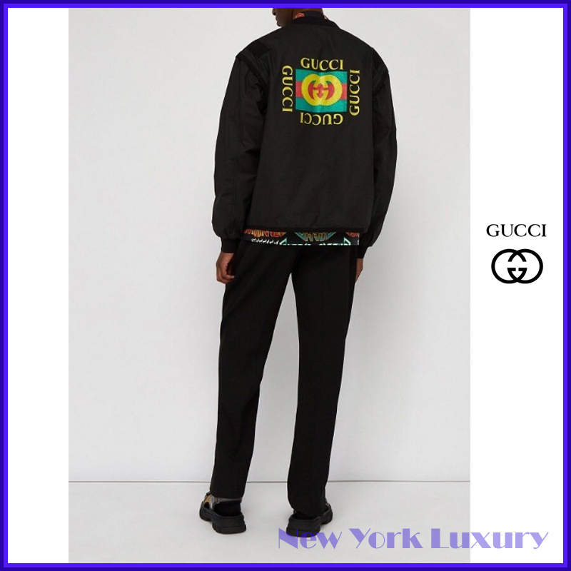 Gucci★素敵!Black Zipper Jacket with Removable Sleeves (GUCCI/MA-1)  544656 1868