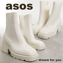 *ASOS DESIGN* Grounded ヒールレインブーツ (送料/関税 込み)